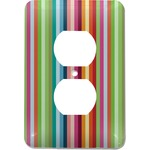 Retro Vertical Stripes Electric Outlet Plate (Personalized)