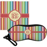 Retro Vertical Stripes Eyeglass Case & Cloth (Personalized)