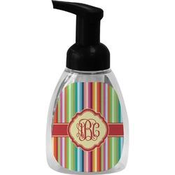 Retro Vertical Stripes Foam Soap Dispenser (Personalized)