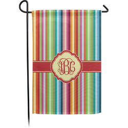 Retro Vertical Stripes Garden Flag (Personalized)