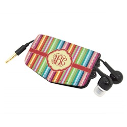 Retro Vertical Stripes Genuine Leather Cord Wrap (Personalized)