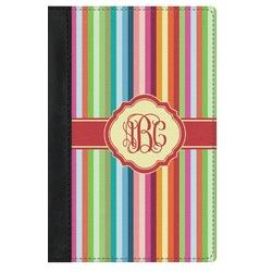 Retro Vertical Stripes Genuine Leather Passport Cover (Personalized)