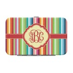 Retro Vertical Stripes Genuine Leather Small Framed Wallet (Personalized)