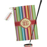 Retro Vertical Stripes Golf Towel Gift Set (Personalized)