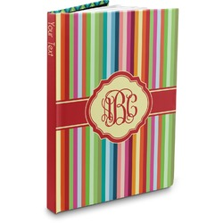 Retro Vertical Stripes Hardbound Journal (Personalized)