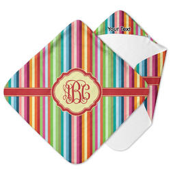 Retro Vertical Stripes Hooded Baby Towel (Personalized)