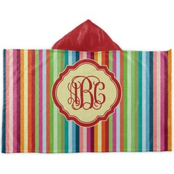 Retro Vertical Stripes Kids Hooded Towel (Personalized)