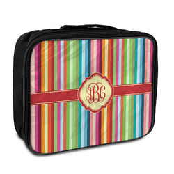 Retro Vertical Stripes Insulated Lunch Bag (Personalized)