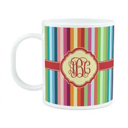 Retro Vertical Stripes Plastic Kids Mug (Personalized)