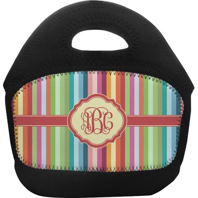 Retro Vertical Stripes Toddler Lunch Tote (Personalized)