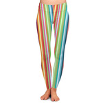 Retro Vertical Stripes Ladies Leggings (Personalized)