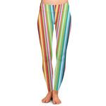 Retro Vertical Stripes Ladies Leggings (Personalized)