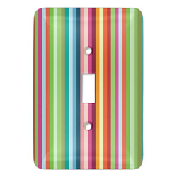 Retro Vertical Stripes Light Switch Covers - Multiple Toggle Options Available (Personalized)