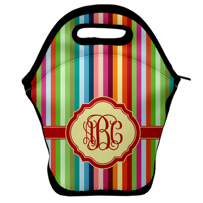Retro Vertical Stripes Lunch Bag (Personalized)