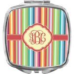 Retro Vertical Stripes Compact Makeup Mirror (Personalized)