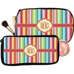 Retro Vertical Stripes Makeup / Cosmetic Bag (Personalized)
