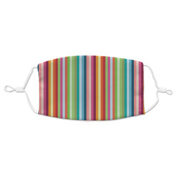 Retro Vertical Stripes Adult Cloth Face Mask (Personalized)
