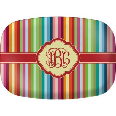 Retro Vertical Stripes Melamine Platter (Personalized)