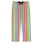 Retro Vertical Stripes Mens Pajama Pants (Personalized)