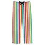 Retro Vertical Stripes Mens Pajama Pants (Personalized)