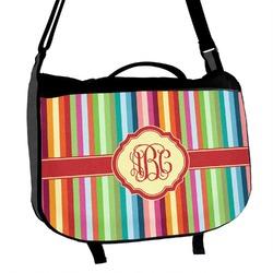 Retro Vertical Stripes Messenger Bag (Personalized)