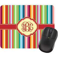 Retro Vertical Stripes Mouse Pad (Personalized)
