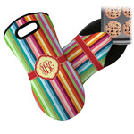 Retro Vertical Stripes Neoprene Oven Mitt (Personalized)