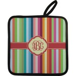 Retro Vertical Stripes Pot Holder (Personalized)