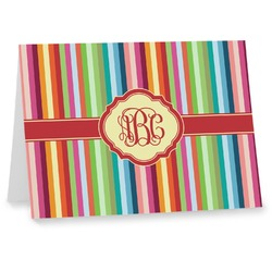 Retro Vertical Stripes Notecards (Personalized)