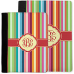 Retro Vertical Stripes Notebook Padfolio w/ Monogram