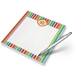 Retro Vertical Stripes Notepad (Personalized)