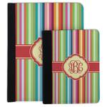 Retro Vertical Stripes Padfolio Clipboard (Personalized)