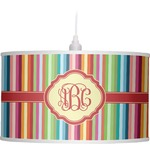 Retro Vertical Stripes Drum Pendant Lamp (Personalized)