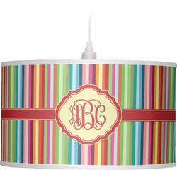 Retro Vertical Stripes Drum Pendant Lamp (Personalized)