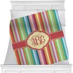 Retro Vertical Stripes Minky Blanket (Personalized)