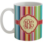 Retro Vertical Stripes Coffee Mug (Personalized)