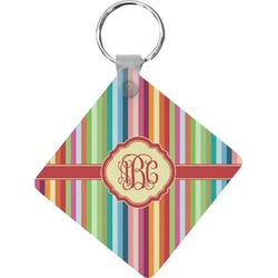 Retro Vertical Stripes Diamond Key Chain (Personalized)