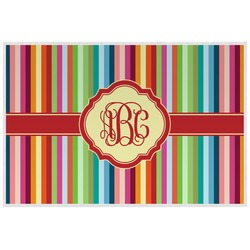 Retro Vertical Stripes Placemat (Laminated) (Personalized)