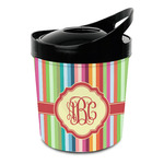 Retro Vertical Stripes Plastic Ice Bucket (Personalized)