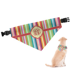 Retro Vertical Stripes Dog Bandana (Personalized)