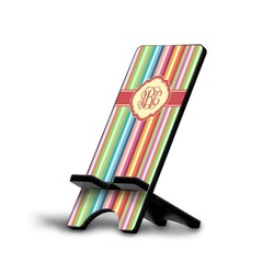 Retro Vertical Stripes Cell Phone Stands (Personalized)