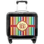 Retro Vertical Stripes Pilot / Flight Suitcase (Personalized)