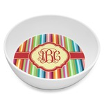 Retro Vertical Stripes Melamine Bowl 8oz (Personalized)