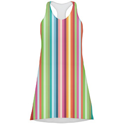 Retro Vertical Stripes Racerback Dress (Personalized)