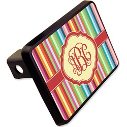 "Retro Vertical Stripes Rectangular Trailer Hitch Cover - 2"" (Personalized)"