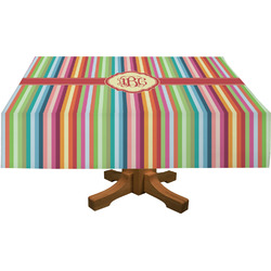 Retro Vertical Stripes Rectangle Tablecloth (Personalized)