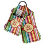 Retro Vertical Stripes Hand Sanitizer & Keychain Holder (Personalized)