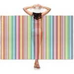 Retro Vertical Stripes Sheer Sarong (Personalized)