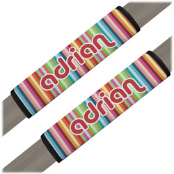 Retro Vertical Stripes Seat Belt Covers (Set of 2) (Personalized)