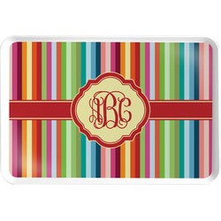 Retro Vertical Stripes Serving Tray (Personalized)